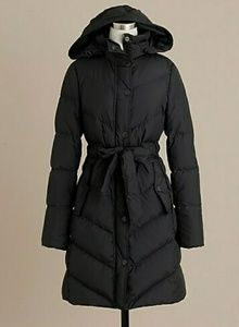 J.Crew Belted Puffer Jacket. Size Large.